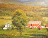 "PHOTO PROVIDED - George Van Hook's ""September Afternoon"" is part of the exhibition of paintings by Van Hook and Chris Baker currently showing at Oxford Gallery."