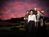 "PHOTO BY DON DIXON - Geraint Wyn Davis, Lucy Peacock, Brian Dennehy, Seana McKenna, and Ben Carlson (left to right) in ""Mary Stuart,"" part of the 2013 Stratford Festival."