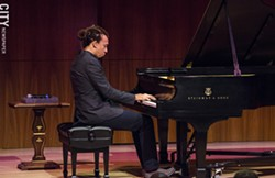 Gerald Clayton played Hatch Recital Hall. - PHOTO BY MARK CHAMBERLIN