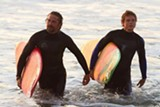 "Gerard Butler and Jonny Weston in ""Chasing Mavericks."" PHOTO COURTESY FOX 2000 PICTURES"