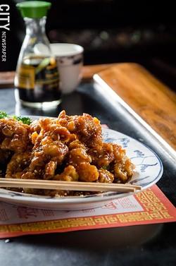 Gluten-free sesame chicken from Chen Garden - PHOTO BY MARK CHAMBERLIN