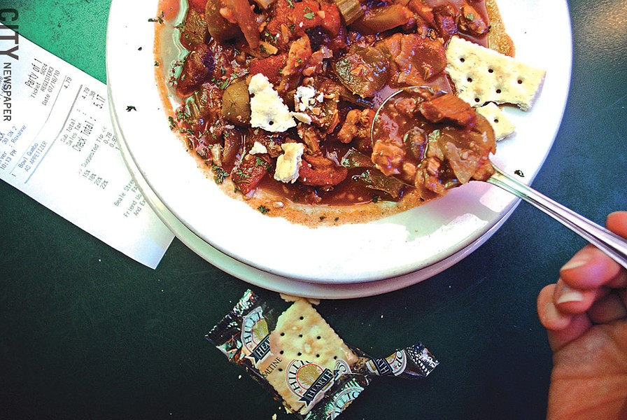 Gumbo from Beale Street Café. - PHOTO BY MATT DETURCK