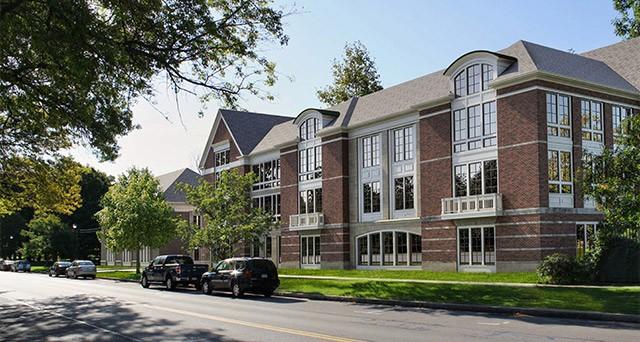 Hanlon Architects' design for Morgan Management's proposed use for 933 University Avenue.