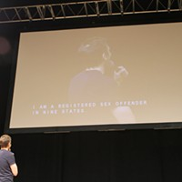 Performance photos: Joel McHale w/Brooks McBeth He also had fun with the poor typist close captioning the show.