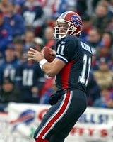 PHOTO BY JEROME DAVIS - He still has a great arm: Drew Bledsoe of the Bills.