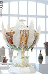 """Heavenly Dish"" by Phyllis Kloda is part of the Genesee Pottery's current 40 year retrospective show."