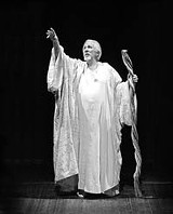 PHOTO BY DAVID HOU - His last Prospero? William Hutt in The Tempest.
