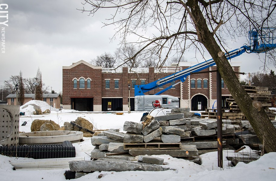 I-Square, which was in the thick of construction this past winter, now has businesses opening. It's one of several major projects under way in Irondequoit. - FILE PHOTO