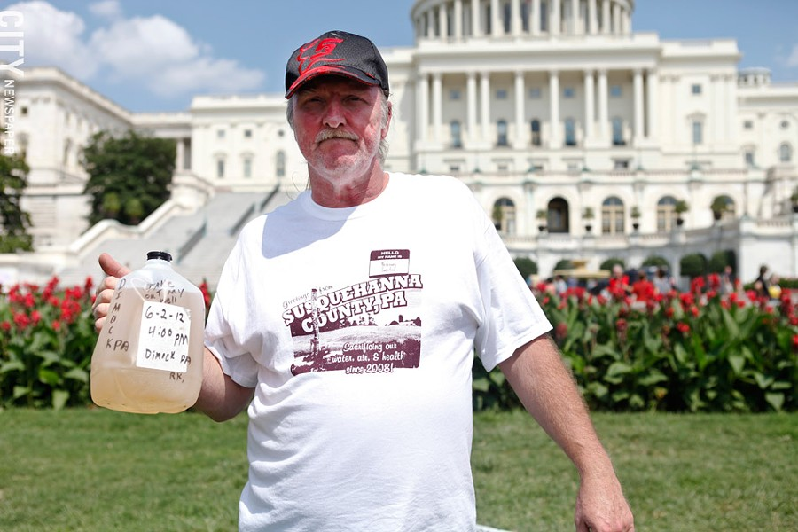 In August 2012, a contingent of fracking opponents from the Rochester area traveled to a large protest in Washington, D.C. - FILE PHOTO