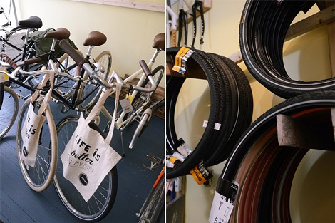 Inside Yellow Haus Bicycles. - PHOTO BY LARISSA COE
