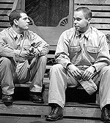 "KEN A. HUTH - It's an army life: Dennis Staroselsky and Sam Misner in ""Biloxi Blues."""