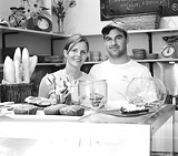 KARA DOUGHMAN - It's - more than just the sandwich: Jaquelyn and Stan Powers, owners of Orange Glory.