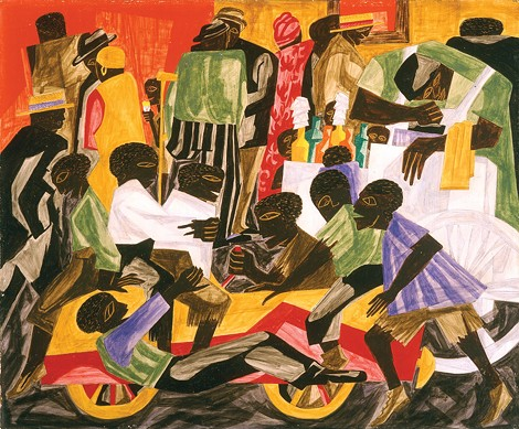 Jacob Lawrence's Summer Street Scene in Harlem, 1948, was acquired by MAG in 1991 under Holcomb. - PHOTO COURTESY THE MEMORIAL ART GALLERY