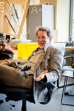 Jon Schull, a scientist at RIT, created e-NABLE, an on-line community for 3D printing enthusiasts to coordinate and create prosthetic hands. - PHOTO BY MARK CHAMBERLIN