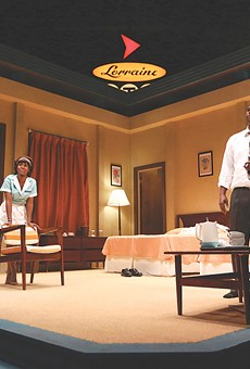 "Joniece Abbott-Pratt and Royce Johnson in a scene from ""The Mountaintop,"" a drama about Martin Luther King Jr.'s last night."