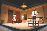 """PHOTO BY KEN HUTH - Joniece Abbott-Pratt and Royce - Johnson in a scene from """"The Mountaintop,"""" a drama about Martin Luther King - Jr.'s last night."""