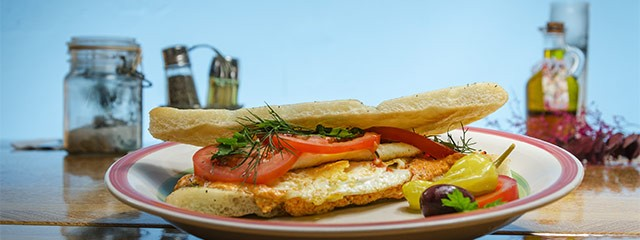 Kafteri egg sandwich from Voula's Greek Sweets.