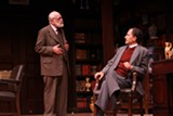 """PHOTO BY KEN HUTH - Kenneth Tigar and Ron Menzel in """"Freud's Last Session,"""" now at the Geva Theatre Mainstage."""