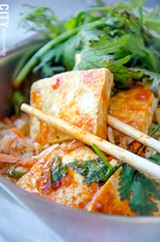 PHOTO BY MARK CHAMBERLIN - Kimchi fried rice with tofu from Atlas Eats in Irondequoit.