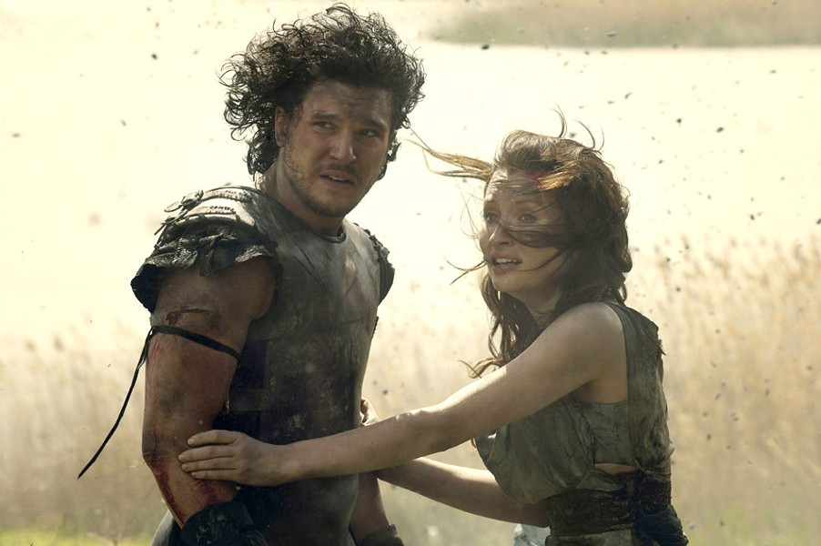 "Kit Harington and Emily Browning in ""Pompeii."" - PHOTO COURTESY TRISTAR PICTURES"