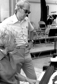 Known for her impromptu performances: Marian McPartland and Rayburn Wright.