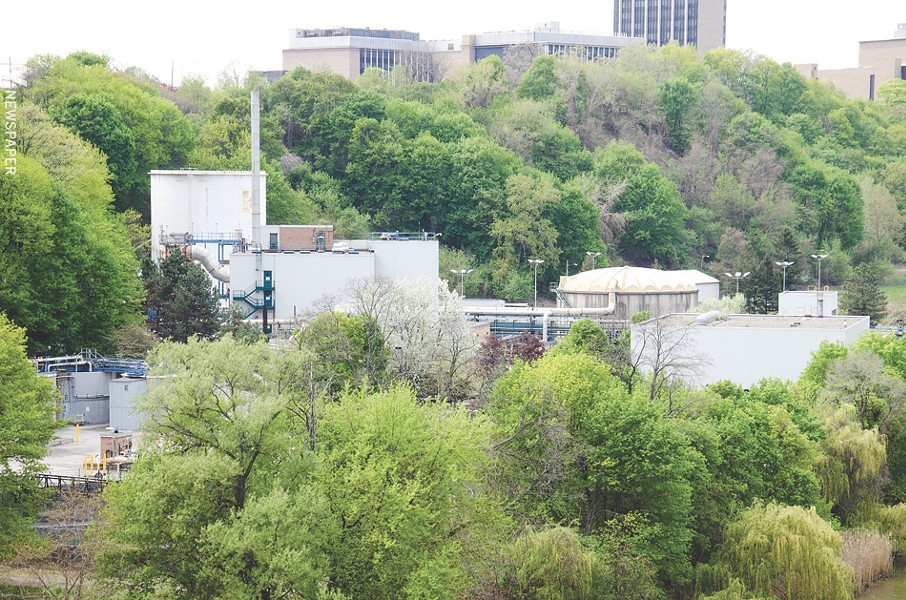 Kodak's waste water treatment plant was once a source of pollution in the Genesee River. - PHOTO BY MARK CHAMBERLIN