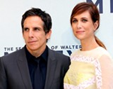 "Kristen Wiig (right) with Ben Stiller at the Australian premiere of ""The Secret Life of Walter Mitty."" - PHOTO BY EVA RINALDI"