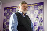 """PHOTO BY MARK CHAMBERLIN - Labor leader Bruce Popper: """"Where workers have been successful, the results are dramatic."""""""