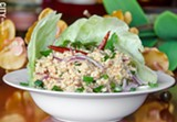 Larb Chicken with Lettuce from Thai Time Cuisine. - PHOTO BY MARK CHAMBERLIN
