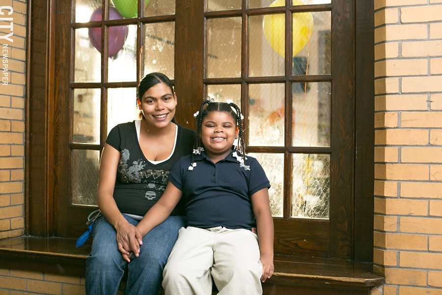 Latesha Green and her daughter, Zacaria. - PHOTO BY MIKE HANLON