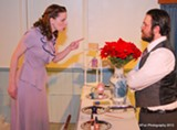 "PHOTO BY KRISTY ANGEVINE-FUNDERBURK - Laura - Pratt and Eddie Prunella in Screen Plays' ""Parfumerie,"" now on stage at MuCCC."