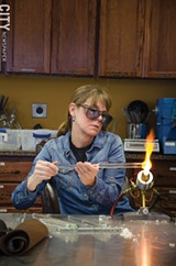 PHOTO BY MARK CHAMBERLIN - Learn how to work with glass, or even how to blacksmith, at the Rochester Arc & Flame Center.