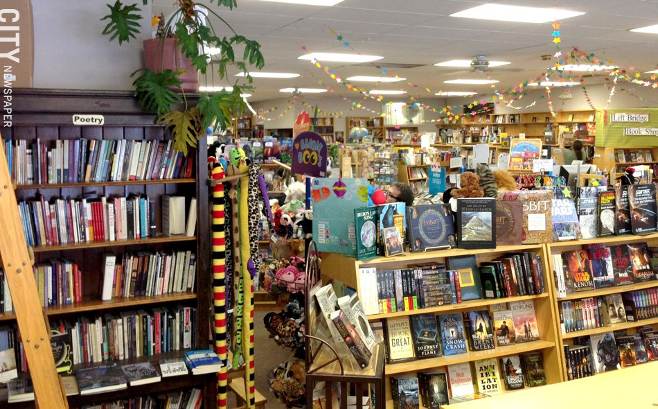 Lift Bridge Books in Brockport is one of the few remaining locally-owned stores that sells new books. - PHOTO BY MATT DETURCK