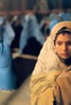Living in a mans world: Marina Golbahari pretends to be a boy in Osama.