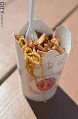 Lo mein with teriyaki chicken. - PHOTO BY MATT DETURCK