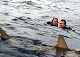 LIONS GATE FILMS - Lost at sea: Blanchard Ryan and Daniel Travis in Open Water.