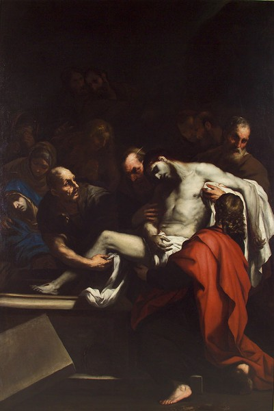 "Luca Giordano, ""The Entombment"""