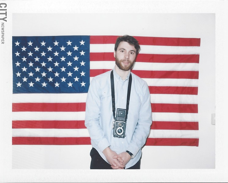 Lucas Marchal enjoys the creativity and control film allows him. [Photographed with a Polaroid Land Camera and Fuji FC100 Instant film] - PHOTO BY MIKE HANLON