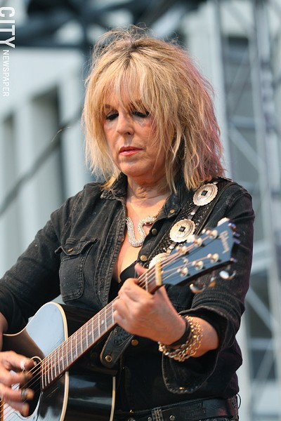 Lucinda Williams played Party in the Park. - PHOTO BY FRANK DE BLASE