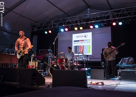 Lucky Peterson performed at the Big Tent. - PHOTO BY ASHLEIGH DESKINS