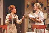 "KEN HUTH/GEVA THEATRE - Mary Ann Conk and Alyssa Rae in Geva's ""The Underpants."""
