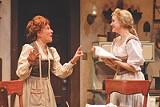"KEN HUTH/GEVA THEATRE - Mary Ann Conk and Alyssa Rae in Geva's ""The Underpants."""
