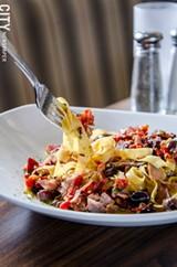Mediterranean pasta. - PHOTO BY MARK CHAMBERLIN