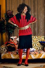 Mickalene Thomas (American, b. 1971). Sandra: She's a Beauty Standing, 2012. Courtesy of the artist, Lehmann Maupin, New York & Hong Kong, and Artists Rights Society (ARS), New York. © Mickalene Thomas - PHOTO PROVIDED