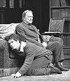 Mike Shara as Eugene Marchbanks and Bernard Behrens as Mr. Burgess in <i>Candida</i>.