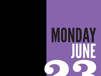 Monday, June 23 - Schedule