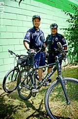 FILE PHOTO - More cyclists and pedestrians mean that police officers need to stay up to speed.