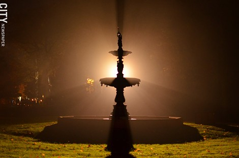 Mount Hope's cast iron fountain. - PHOTO BY MATT DETURCK