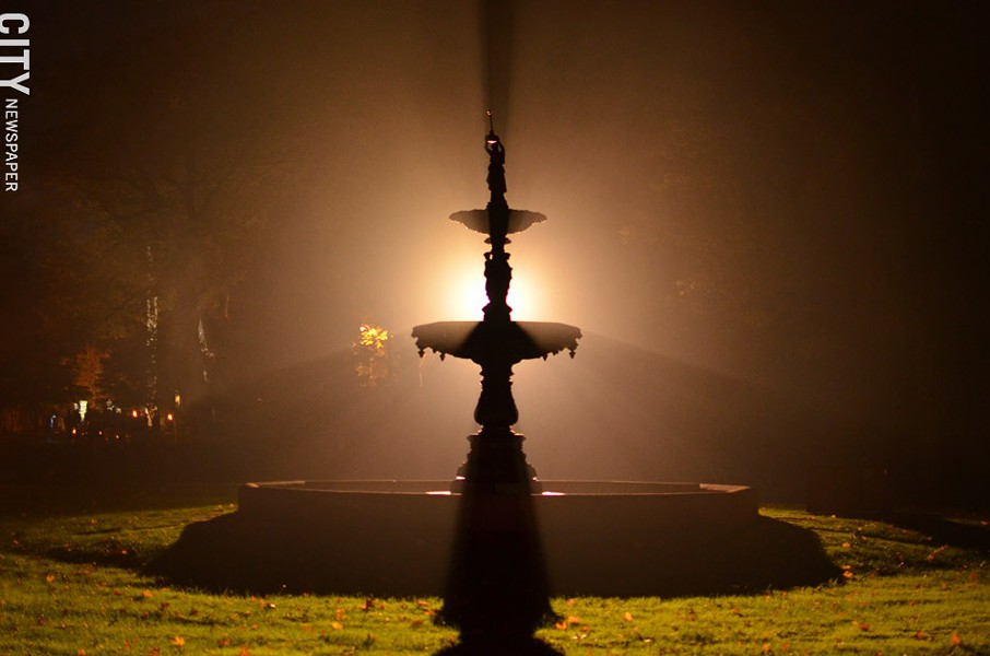 Mount Hope's cast iron fountain. - PHOTO BY MATT DETURCK
