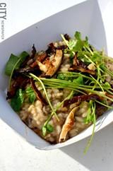 Mushroom risotto from Brick-N-Motor. - PHOTO BY MATT DETURCK